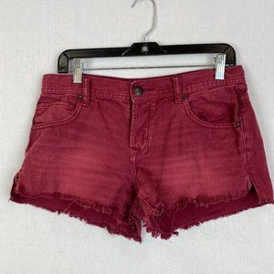 FREE PEOPLE Red Denim Short